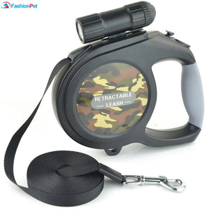8M Retractable Leash with LED Light - Pampered Paws.shop