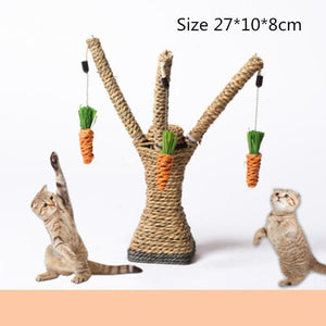 Cat Tree with dangly toys - Pampered Paws.shop