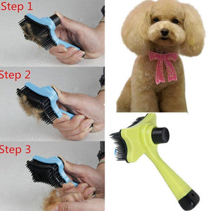 Cat/Dog Grooming Comb with Quick Clean Tool - Pampered Paws.shop