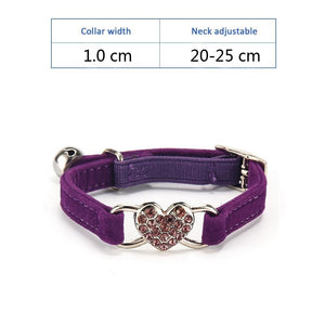 Collar with Heart - Pampered Paws.shop
