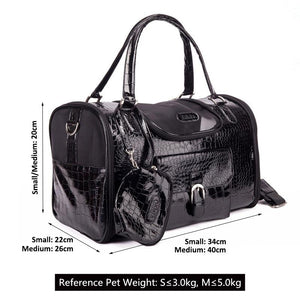 Crocodile Leather Carrier Bag with Purse 3 Colours Available - Pampered Paws.shop