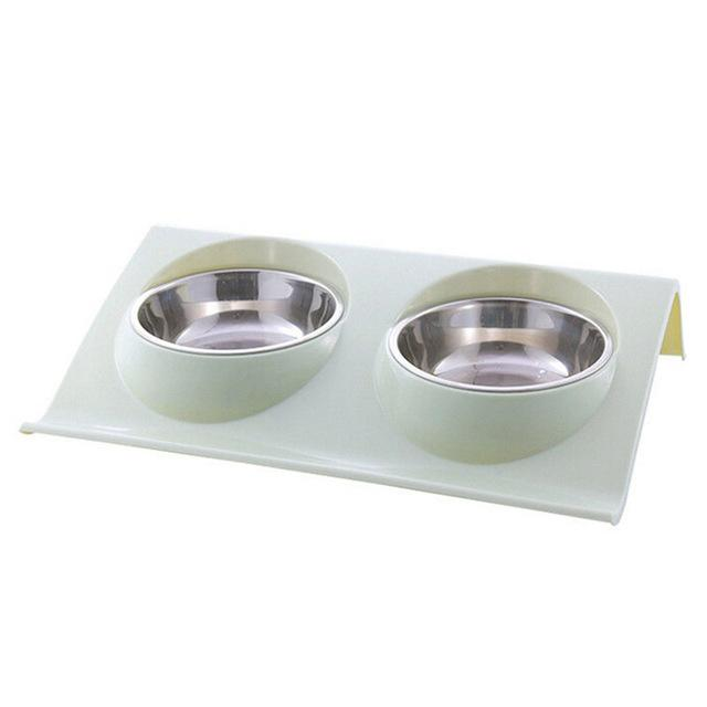 Double Bowl Stainless Steel - Pampered Paws.shop