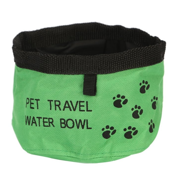 Eco Friendly Canvas Waterproof Portable Travel Bowl - Pampered Paws.shop