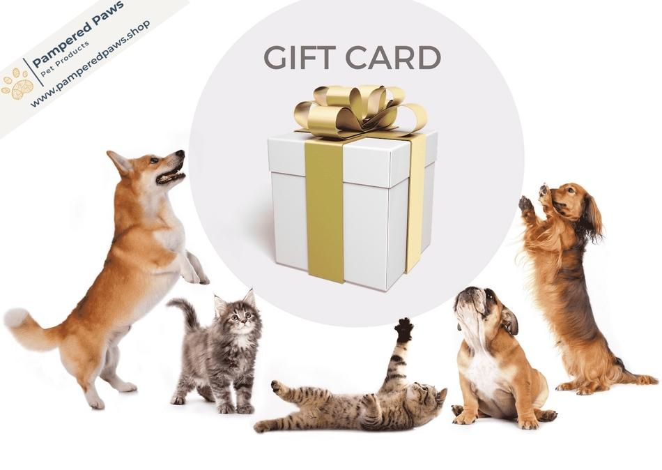 Gift Cards (Digital) - Pampered Paws.shop