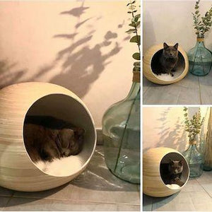 Handmade Bamboo Ball Bed - Pampered Paws.shop
