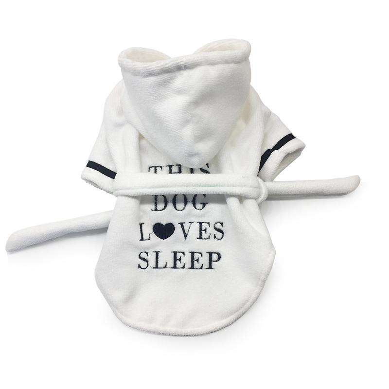 Luxury Silk & Cotton Dog Pajamas/Bathrobe - Pampered Paws.shop