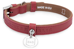 Natural Italian Leather Collar - Pampered Paws.shop