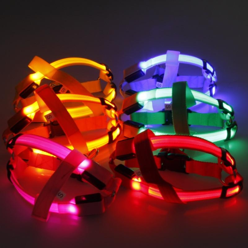 Nylon LED Harness 3 Light Functions - Pampered Paws.shop