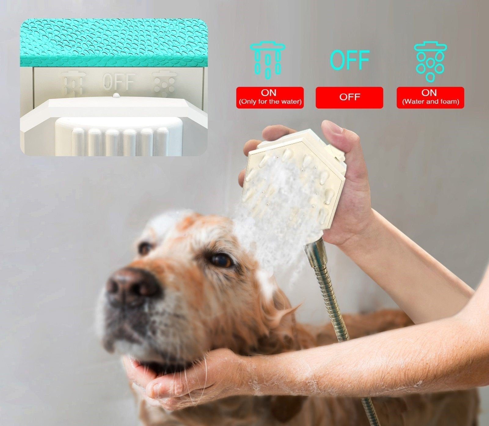 Pet Shower Nozzle - Pampered Paws.shop