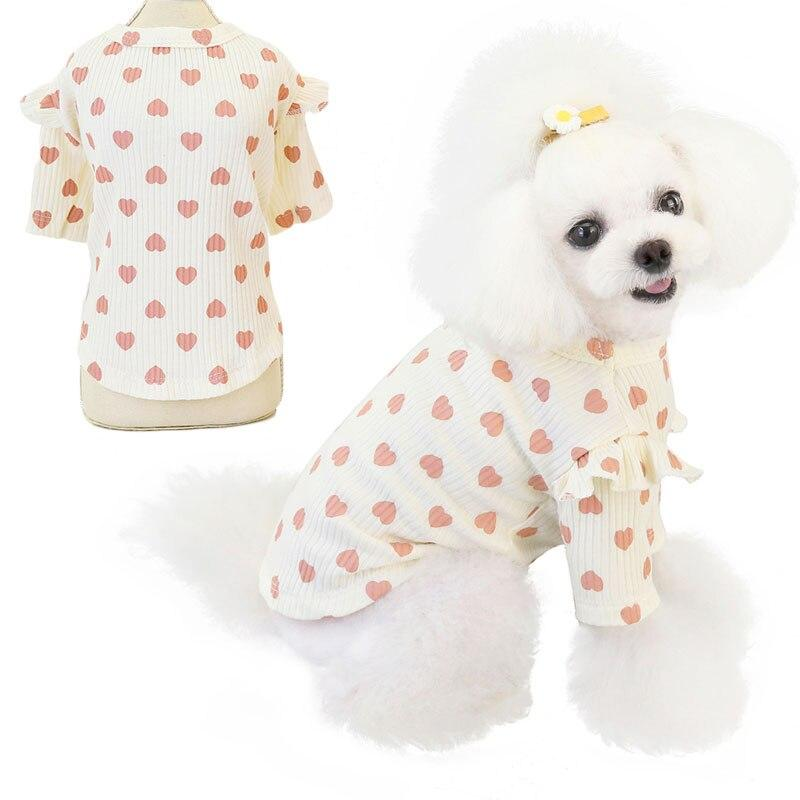 Polka Heart Short-legged top - Pampered Paws.shop