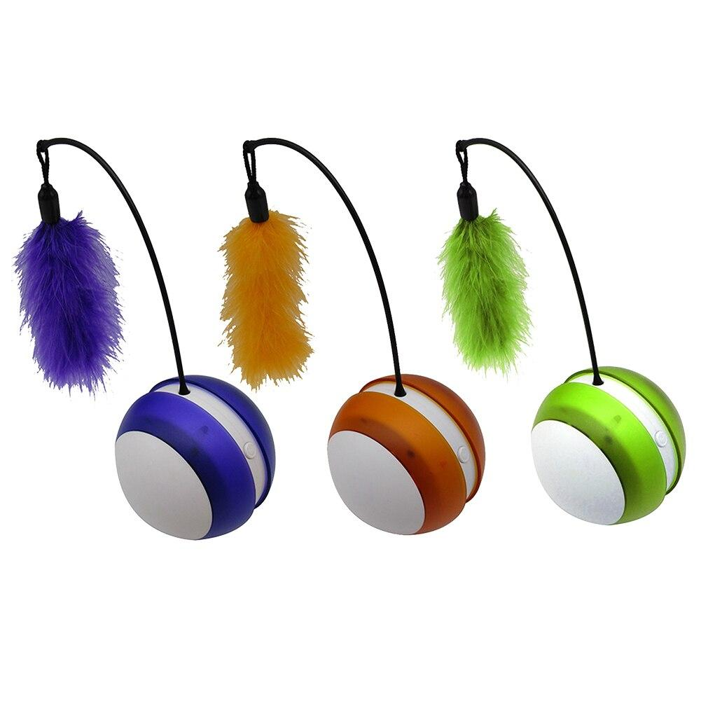 Rotating Feather Rolling Ball - Pampered Paws.shop