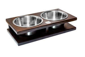 Solid Wood - Dog Bowl - Pampered Paws.shop
