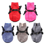 Warm Jacket with Harness - Pampered Paws.shop