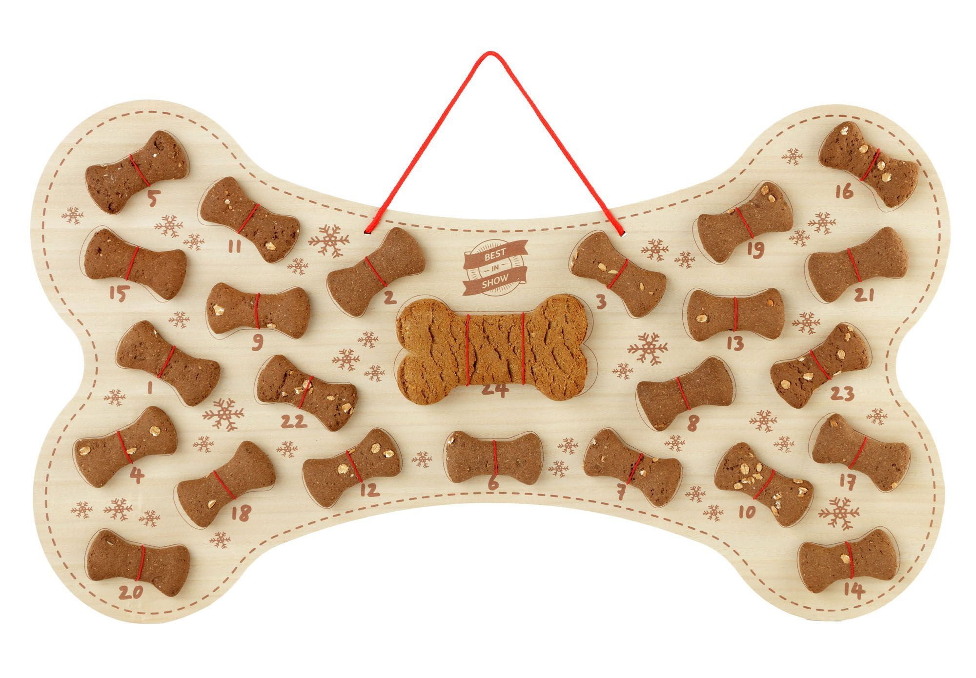Wooden Bone with treats - Pampered Paws.shop
