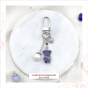 FLUORITE GUMMY BEAR x HOROSCOPE KEYCHAIN/BAG CHARM