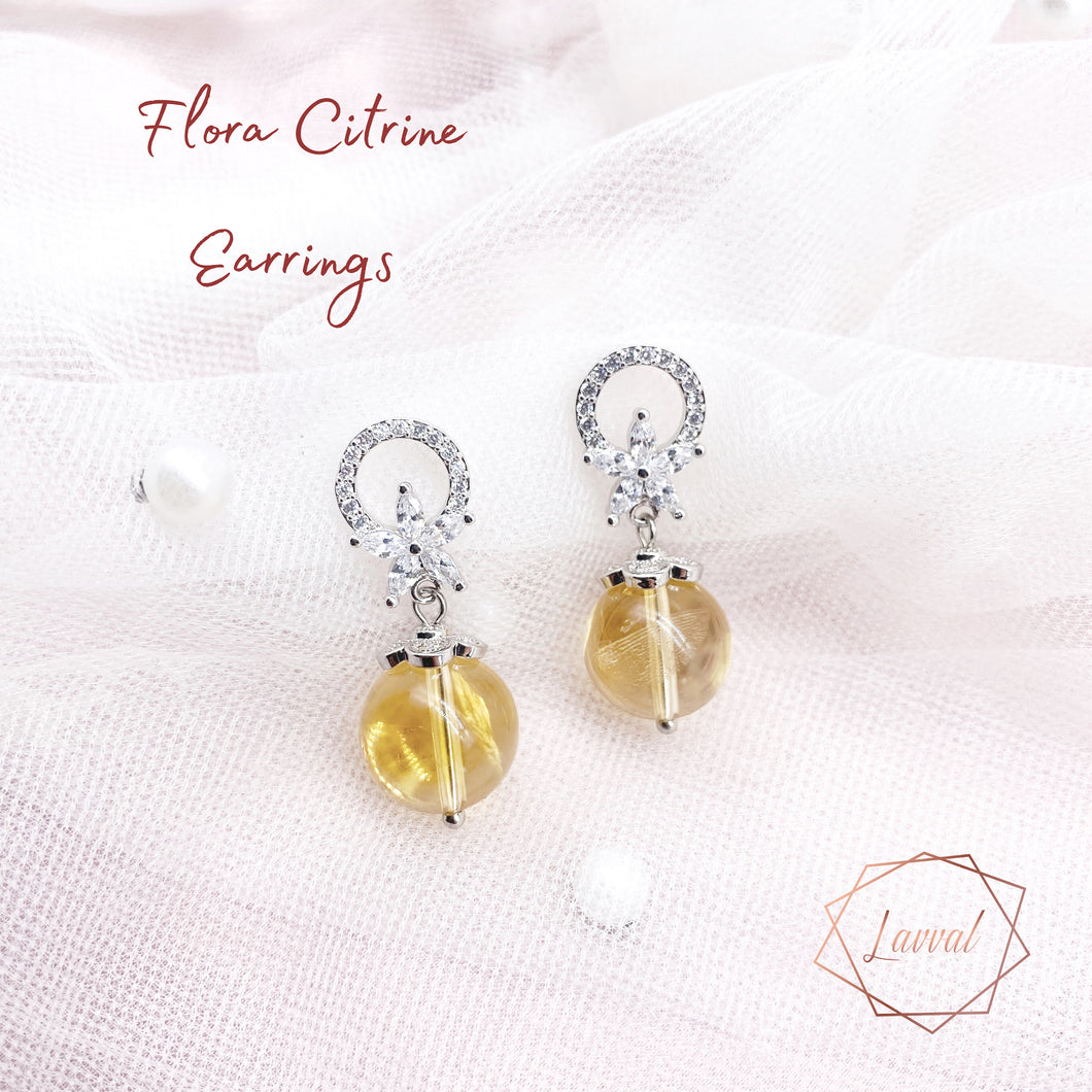 FLORA EARRINGS(CITRINE)
