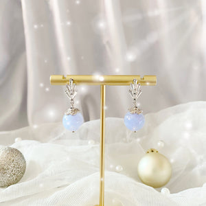 BEJEWELED BLUE LACE AGATE EARRINGS