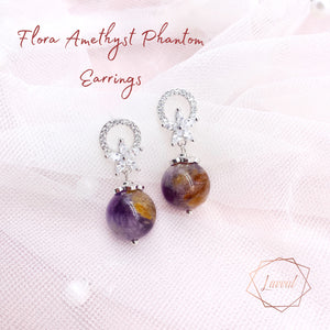 FLORA EARRINGS(AMETHYST PHANTOM)