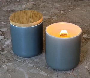 LUXE Gray Candle