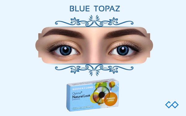 Bausch & Lomb Optima Natural Looks Quarterly Color Contact Lenses (Without Power), 1 Pair - Contact Lenses