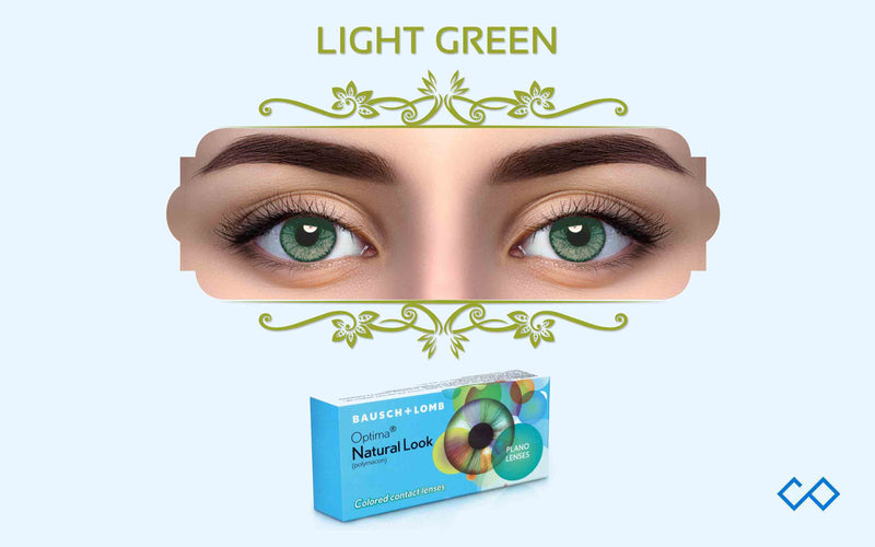 Bausch & Lomb Natural Looks Color Contact Lenses (With Power), 1 Pair - Contact Lenses