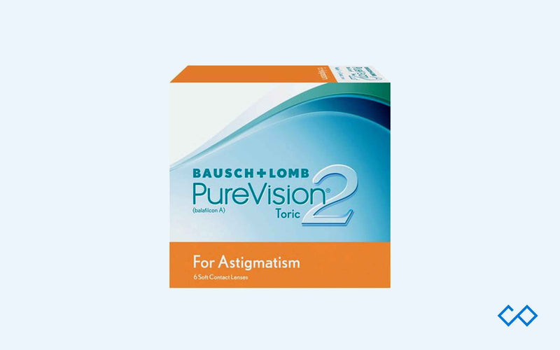 Bausch & Lomb Pure Vision 2 Toric Monthly Disposable, 6 Lens Pack - Contact Lenses