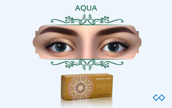 Bausch & Lomb Lacelle Premium Monthly Color Contact Lens (With Power), 1 Pair