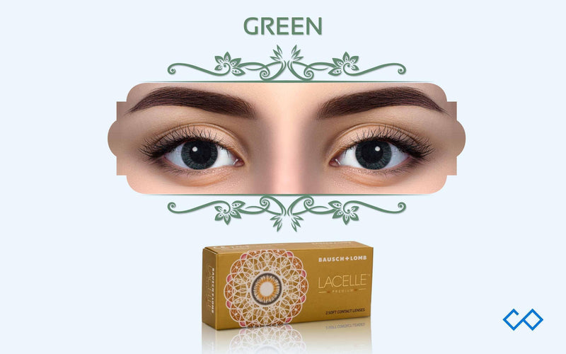 Bausch & Lomb Lacelle Premium Monthly Color Contact Lens (With Power), 1 Pair - Contact Lenses