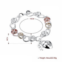 Load image into Gallery viewer, J- Bracelet Two Tone in 18K White Gold Plated