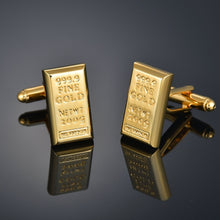 Load image into Gallery viewer, J-Quality Gold Color Cufflinks Letters/Alien/Square/Dragon/Maple leaves/Balance/Name Cuff Links for mens French bouton manchette