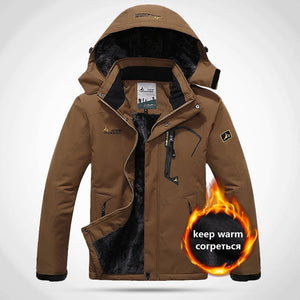 O-Man Women Warm Winter Water Proof Thermal Jacket Fishing Skiing Warm Softshell Hiking Outdoor Camping Jacket 5XL