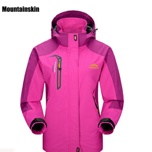 O- Women Spring Autumn Outdoor Hiking Female Jacket Waterproof Windproof Coat Sports Camping Trekking Climbing Jackets VB002