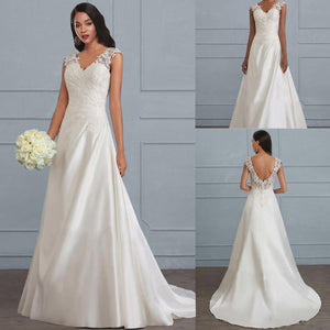 W-New Big Size New Women Long Dress Sexy Deep V Neck Casual Wedding Party Dress Backless Sleeveless White Dresses Vacation Wear
