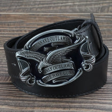 Load image into Gallery viewer, Accessories ,  jeans belt golden eagle belt US flag hawk American emblem Have Guns letter buckle cowboy waistband