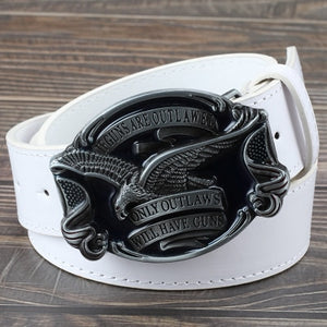 Accessories ,  jeans belt golden eagle belt US flag hawk American emblem Have Guns letter buckle cowboy waistband