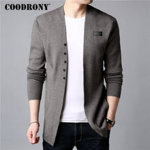Load image into Gallery viewer, S-COODRONY Cardigan Men Casual Knitted Cotton Wool Sweater Men Clothes Summer New Mens Sweaters and Cardigans Coat B11