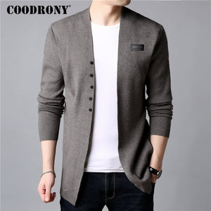 S-COODRONY Cardigan Men Casual Knitted Cotton Wool Sweater Men Clothes Summer New Mens Sweaters and Cardigans Coat B11