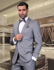 Tuxedos For Men's Wedding Wears Formal Business Prom Party Suits Notched Lapel Two Buttons (Jacket+Pants+