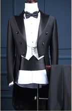 Load image into Gallery viewer, W-New Arrival Unique Fashion Slim Double Breasted Groom Tuxedos/Men's Business Suit/Black Gentleman Tuxedos 1094