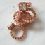 Betrothal Halo Princess Cut Ring + Eternity Band Set in Rose Gold
