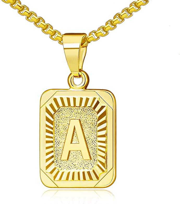 Monogram Initial Letter Pendant Necklace