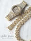 Kronos 3-Piece Watch + Cuban Link Set in Gold