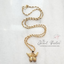 Safira Filigree Butterfly Pendant in Gold + Chain