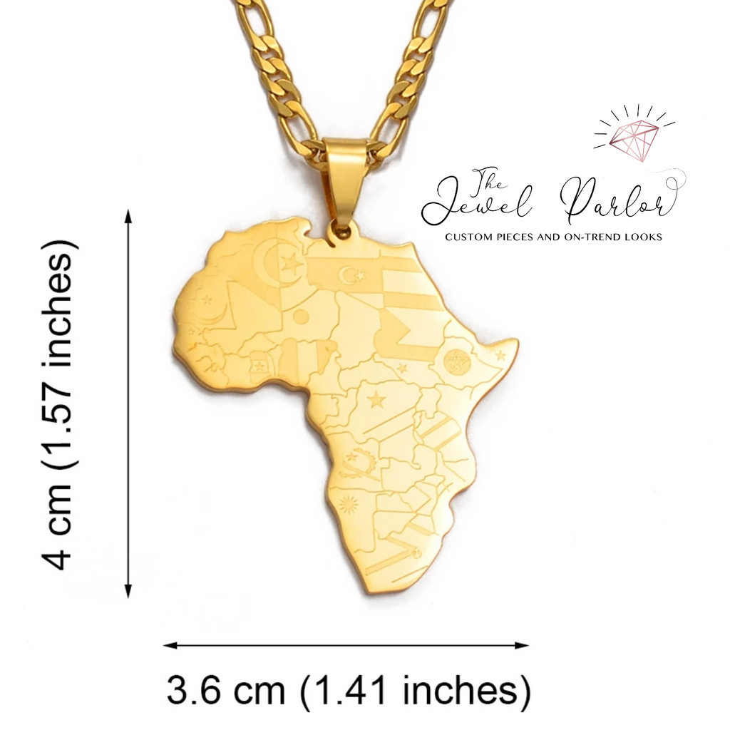 Anyi Flags of Africa Pendant + Chain