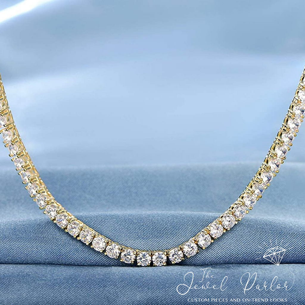 Parisa 4mm Tennis Chain in Gold or Silver