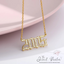 Crystal Birth Year Necklace 1985 to 2020
