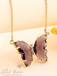 Evangeline Glass Butterfly Necklace • Purple