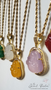 Happy Buddha + Baguettes Necklace • 5 Colors