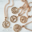 Rose Gold-Plated Horoscope Zodiac Sign Necklace