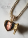 Valentine's Day Sweetheart Baguette Locket Photo Pendant